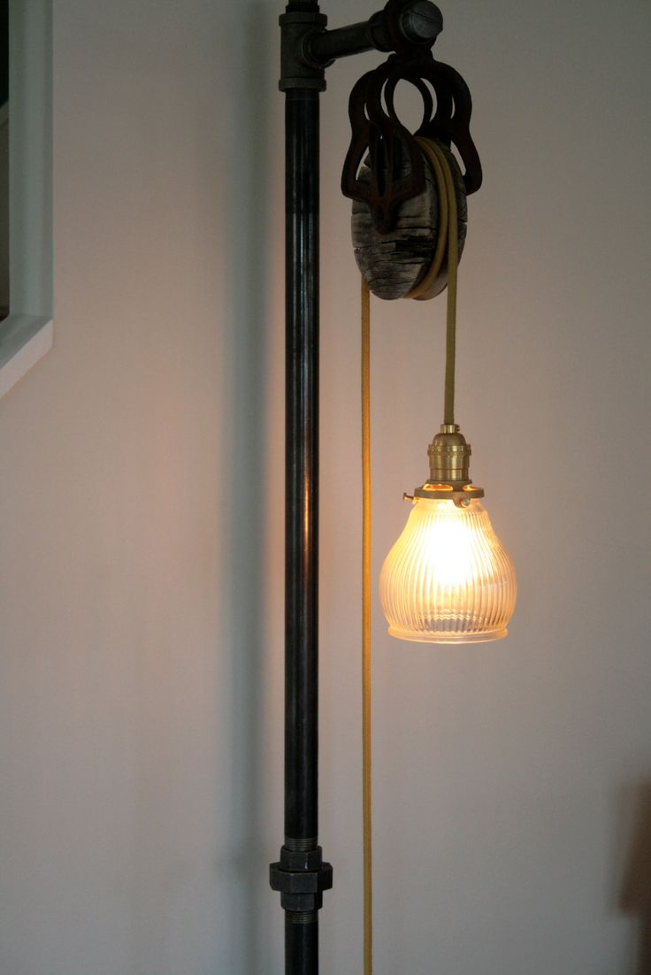 Vintage Industrial Floor Lamp. $345.00, via Etsy.