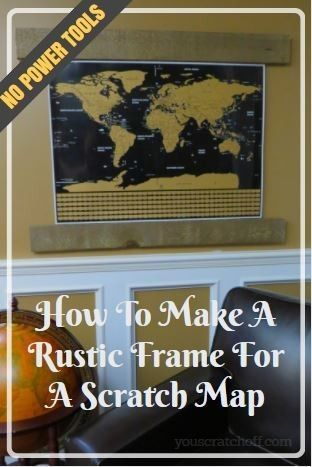 How To Make A Rustic Barn Wood Scratch Map Frame With No Power Tools. Step-by-step instructions and designed for people with no power tools. Reclaimed wood has a very traditional and warm look. It goes great with many decor styles.