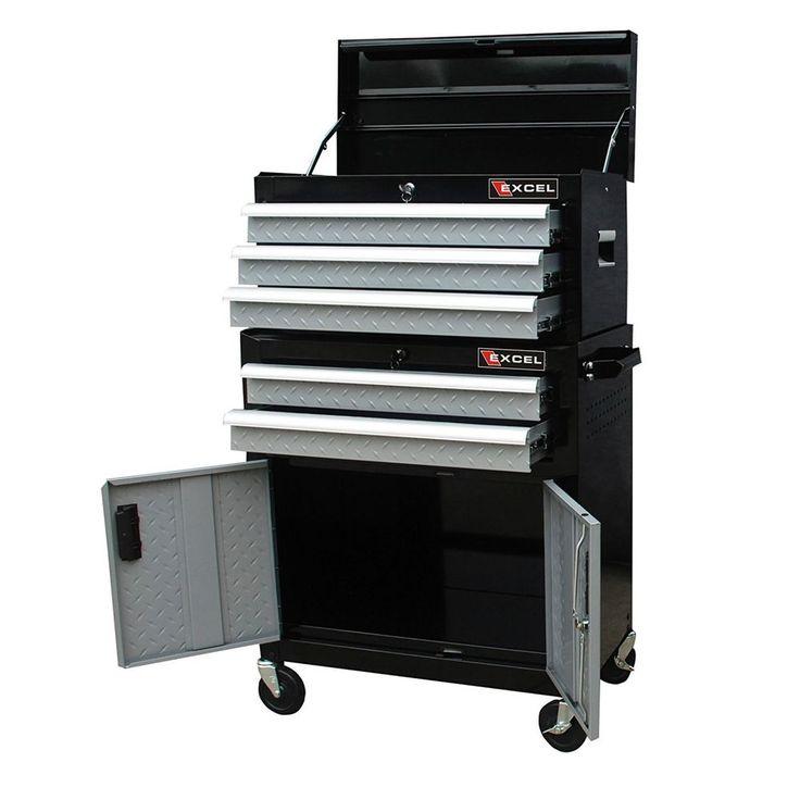 Rolling Tool Box Cabinet 5 Drawer Organizer Steel Chest Mechanics Storage Garage #toolbox #rollingcabinet #garage #mechanicschest