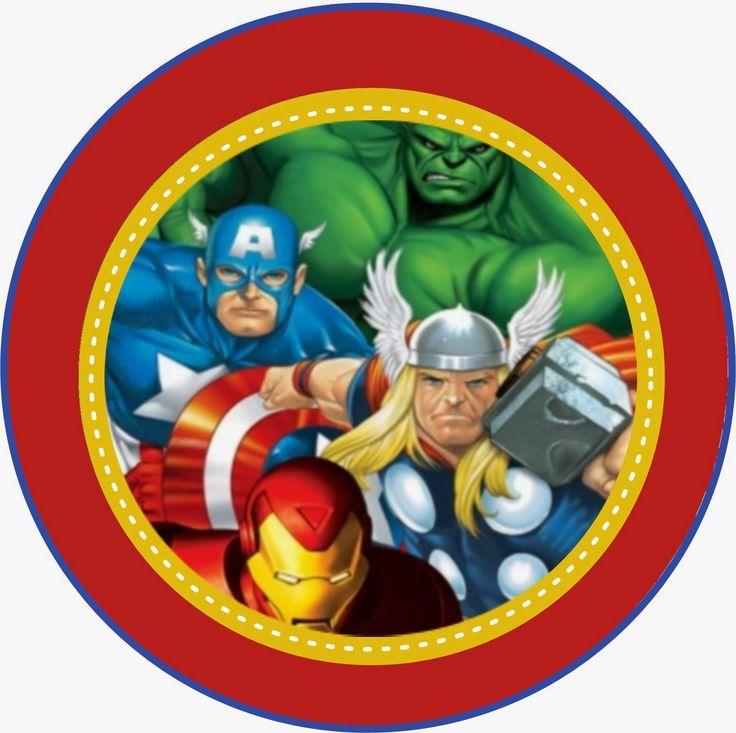 Супергерои картинка круглая