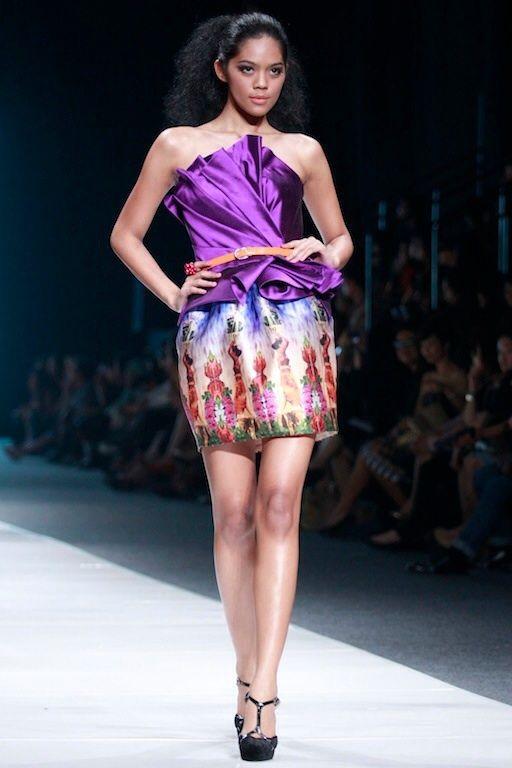 #BILLYTJONG Our 1st Ready To Wear Printed dress on Jakarta Fashion Week13 on Nov 2012 Look 6