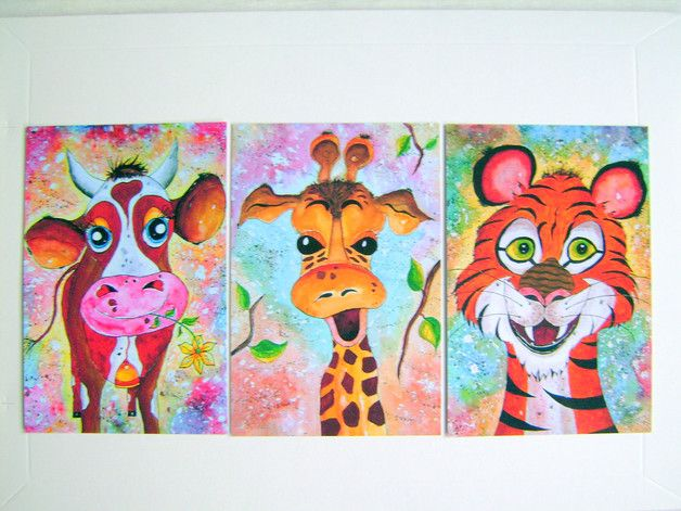 Kinderbilder fürs kinderzimmer giraffe  194 best Tiere Zeichnungen gemalt Kinderzimmer-Bilder painting for ...