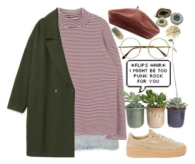 """""""☁️Rayame☁️"""" by rayame ❤ liked on Polyvore featuring Hostess, Accessorize, Puma, Times Two Design and Retrò"""