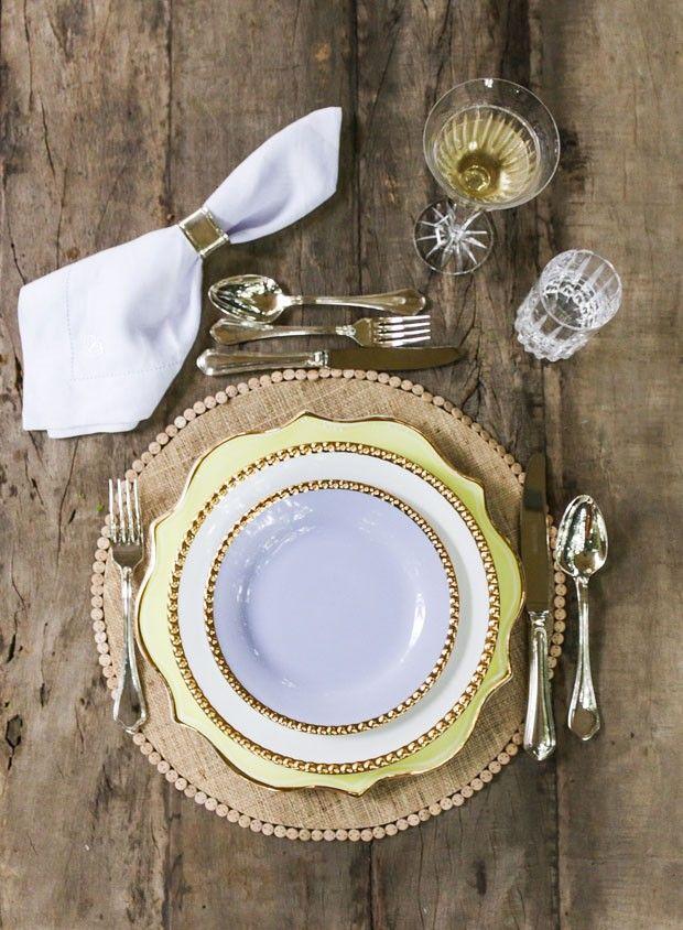 Arrumação de mesa clássica!