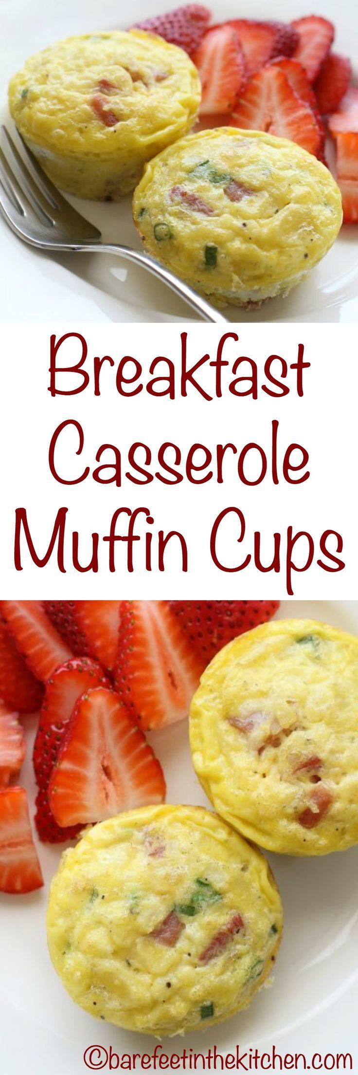 Breakfast Casserole Muffin Cups - get the recipe at barefeetinthekitchen.com