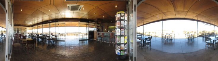 Panorama of the restaurant at the Sterkfontein Caves in the Cradle of Humankind, South Africa.