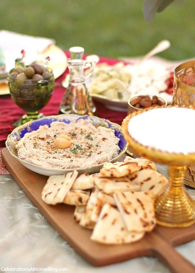 Serve a variety of mezze plates and add a Moroccan spin to your home entertaining. See my easy to serve menu here.