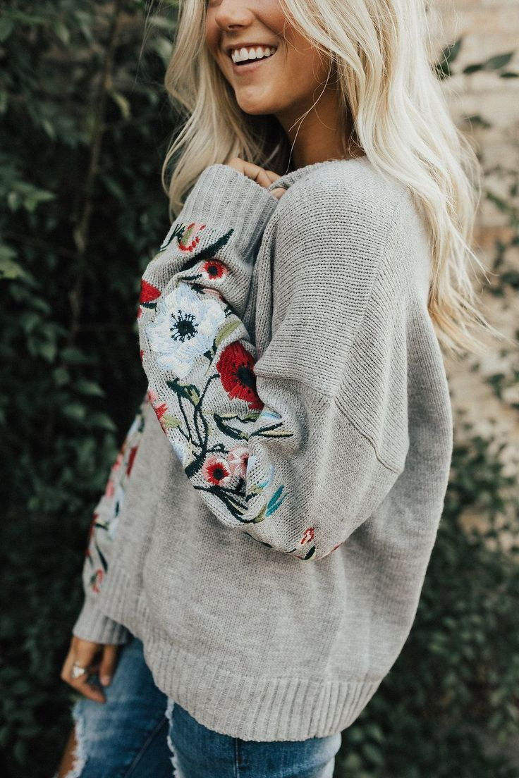Fall Embroidered Sweater | ROOLEE #rooleefave This sweater transitions easily from fall to winter to spring. The embroidery detail is to die for! A FAVE for sure.