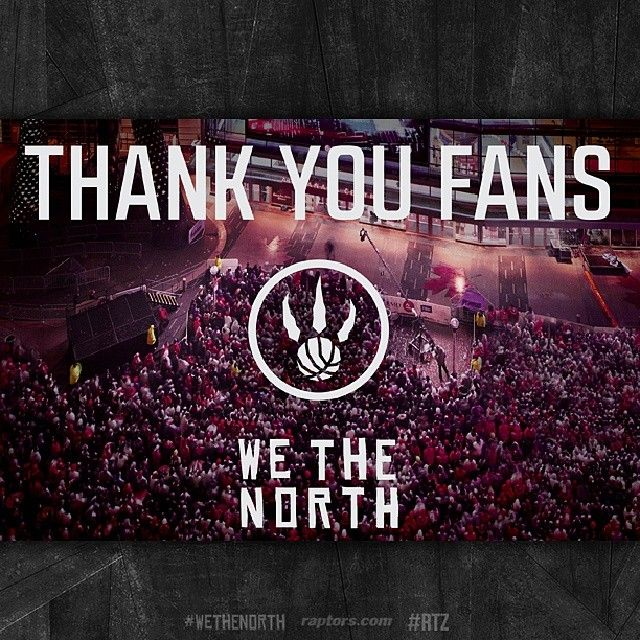 Thank your to #Raptors fans their tremendous support this season!