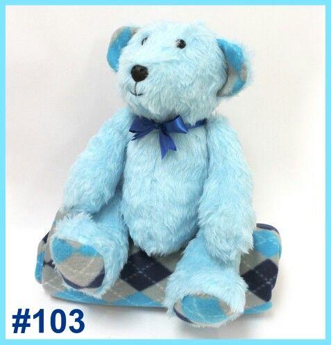 #103 Baby Blue I-Bear.  #teddie #bear #softtoy