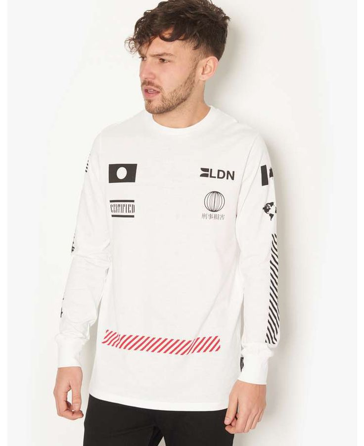 Criminal Damage Sponsor Long Sleeved T-Shirt - BANK Fashion, bringing you all the latest fashion for women and men from your favourite designer brands.