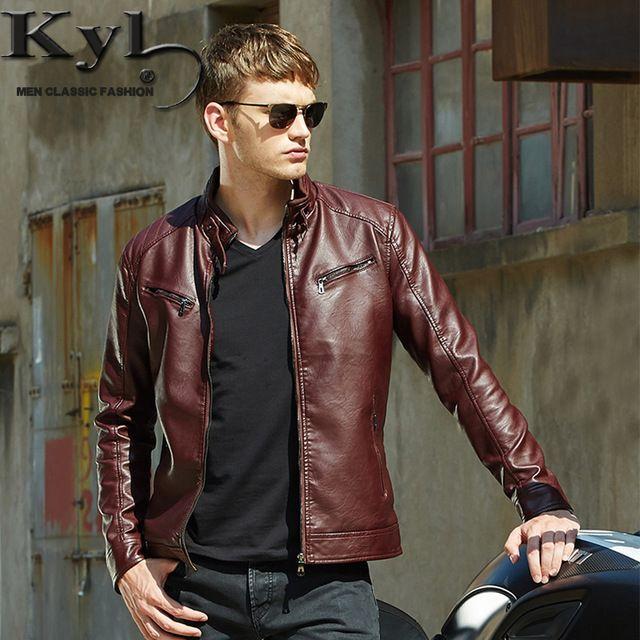 2016 мужская популярные красивый пу кожаная куртка панк новые красные кожаные куртки молнии мужчины Chupas де Cuero хомбре 609 US $39.50 / шт. 50% off  http://ali.pub/5h2ct