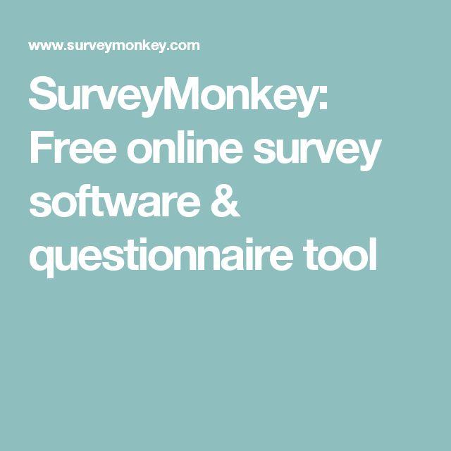 SurveyMonkey: Free online survey software & questionnaire tool