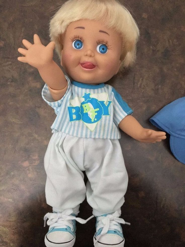Baby Face Galoob 1990 Doll - So Daring Denny (Sacha) VERY RARE! Look!