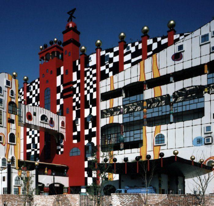 Hundertwasser Maishima Incineration Plant Osaka Japan