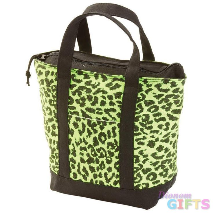 GREEN LEOPARD LUNCH/COOLER BAG