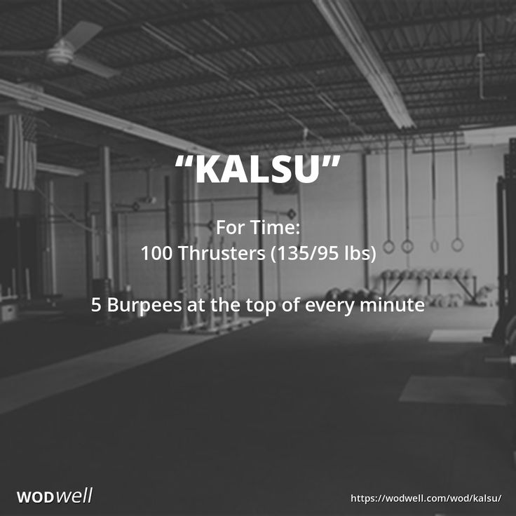 """""""Kalsu"""" WOD - For Time: 100 Thrusters (135/95 lbs)"""