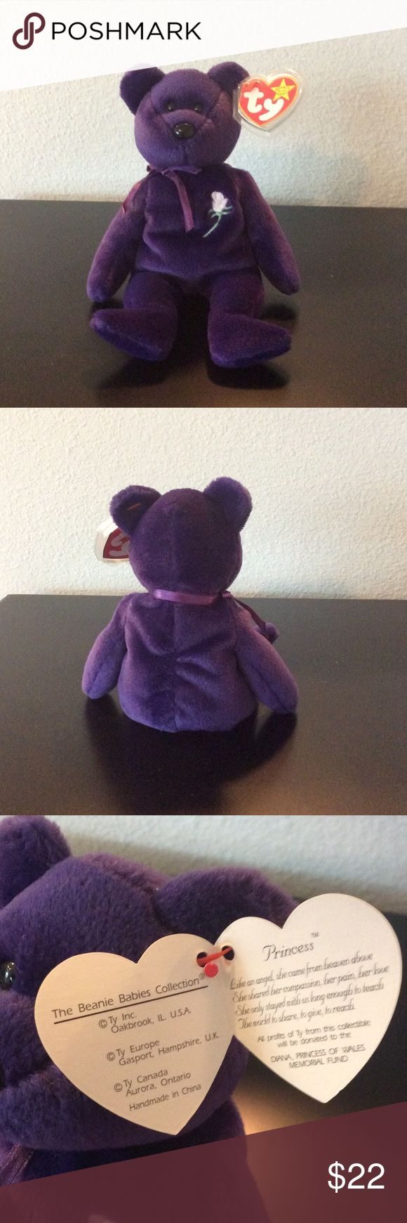 Princess Diana collectors edition Beanie Baby 1997. Excellent condition (not played with as a toy). Beanie Baby Other