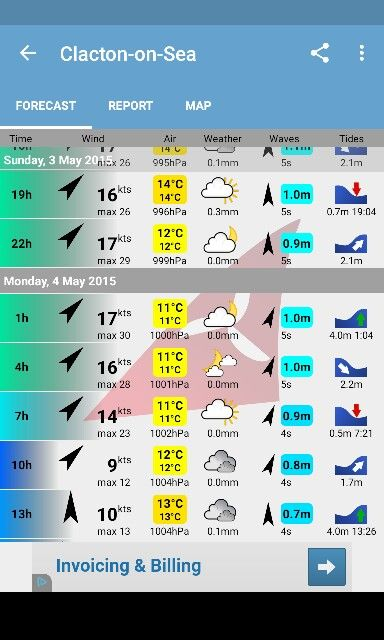 Weather for monday 4 may 15