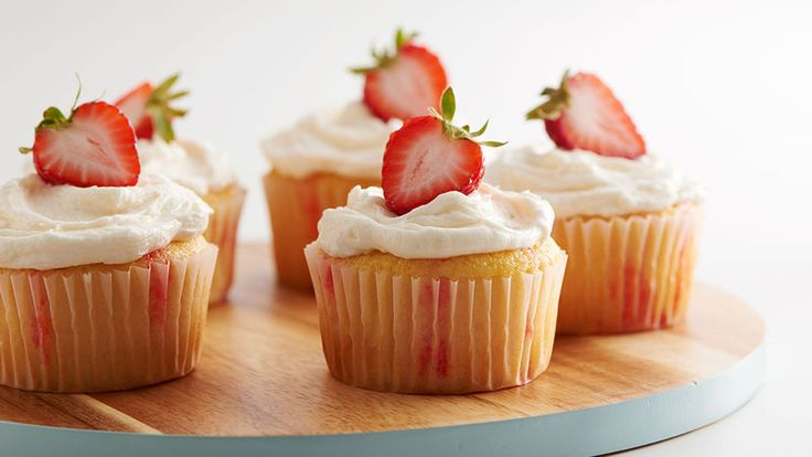 These boozy strawberry jello poke cupcakes are the perfect easy treat for a bridal shower or potluck!