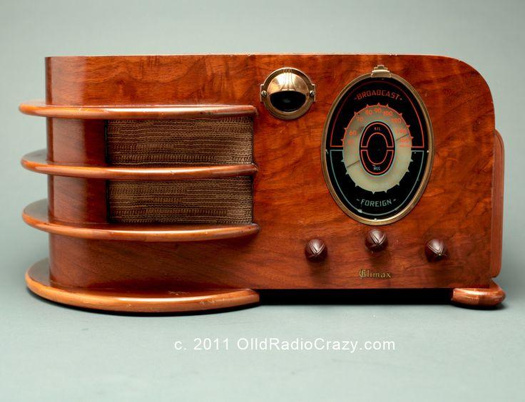 Art Deco Climax Model 60 Tube Radio (1938)