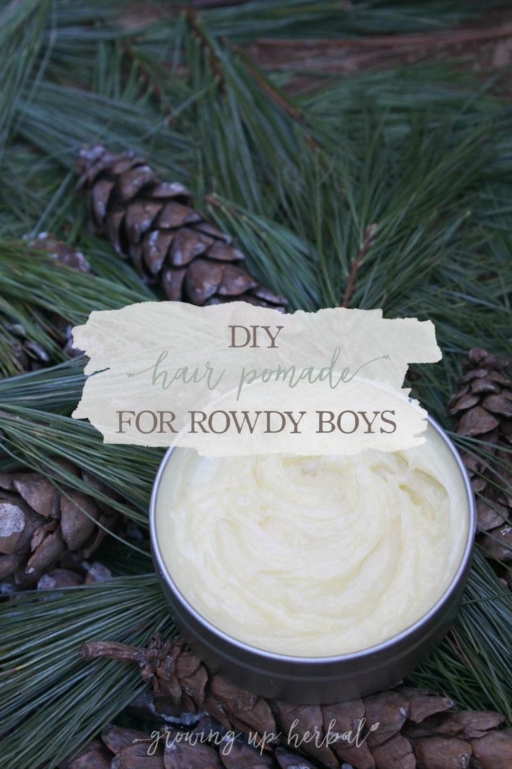 DIY Hair Pomade For Rowdy Boys   Growing Up Herbal   Get this recipe for all-natural homemade hair pomade for medium and firm hold. Your favorite guy will love it!