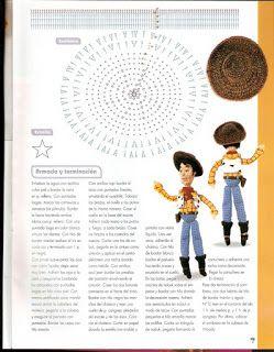 Patrón Amigurumi: Woody (personaje de Toy Story)   Tejido Facil