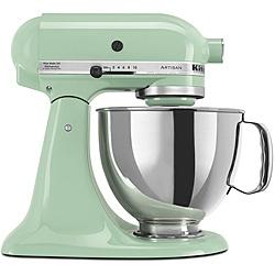 pretty green kitchen aide!