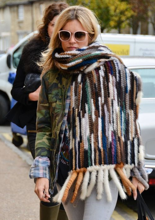 purlonpearl | Kate Moss | knit fur (via Pinterest)