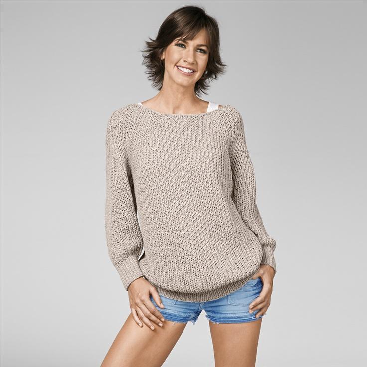 Modell 434/3, Oversize Pullover aus Bandana von Junghans-Wolle « Damenpullover « Strickmodelle Junghans-Wolle « Stricken & Häkeln im Junghans-Wolle Creativ-Shop kaufen