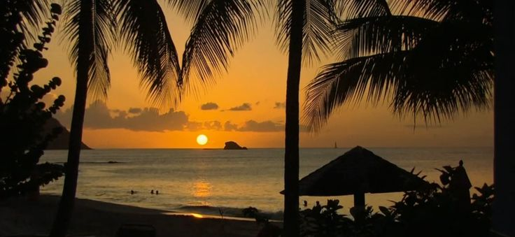 There's nothing like a fiery sunset on Saint Lucia