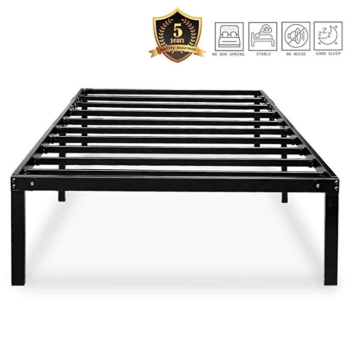 Haageep Black Twin Metal Bed Frame No Boxspring Needed 14 Inch