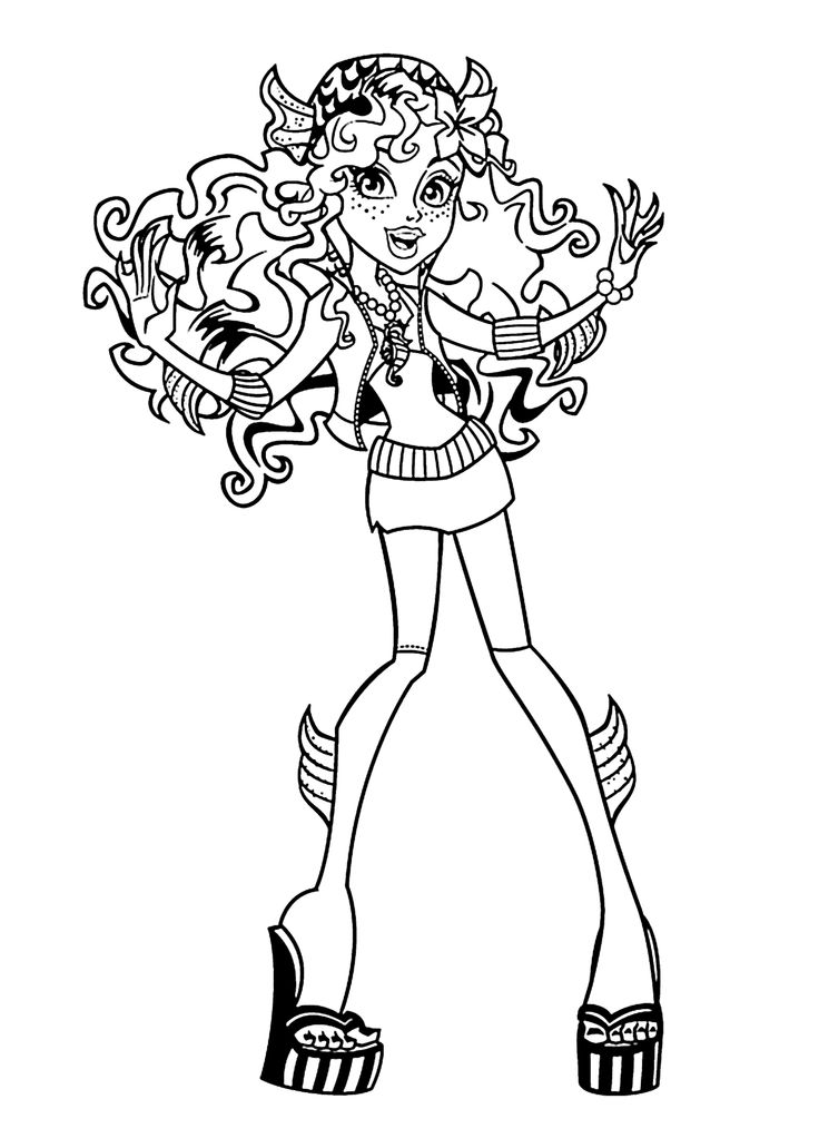 Lagoona blue monster high coloring pages for kids printable free