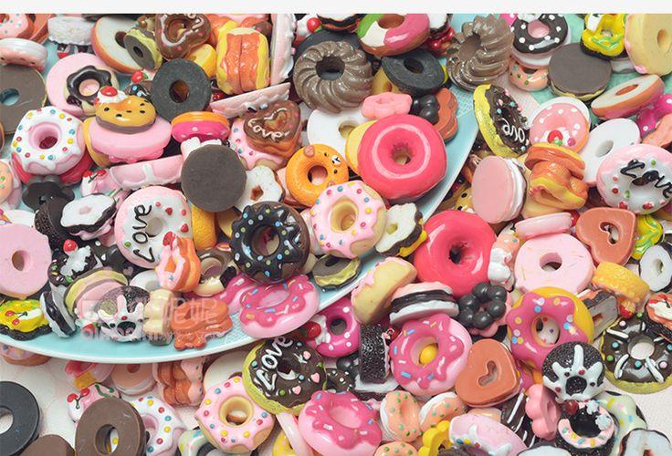 甜甜圈福袋 食玩树脂材料包 仿真奶油胶手机壳贴钻手工DIY制作-淘宝网全球站