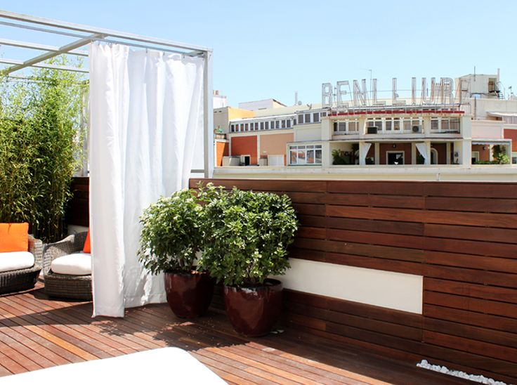 Reforma de jard n en terraza para atico en calle alcal for Paisajismo de terrazas