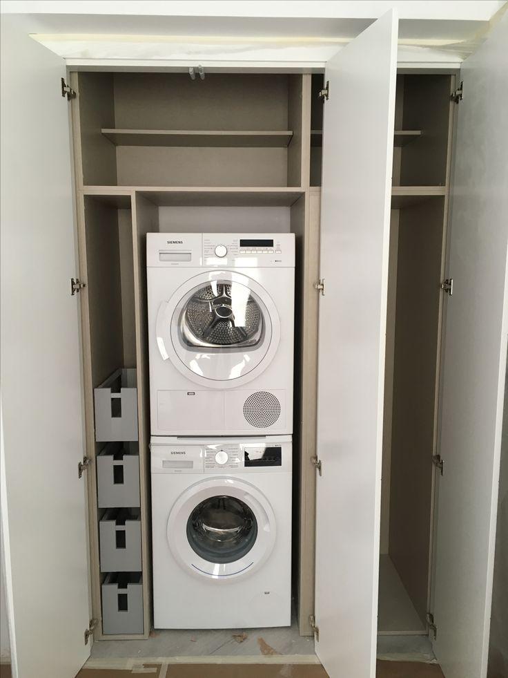 Armario fabricado para ocultar lavadora y secadora home decor in 2019 lavadora y secadora - Armario para lavadora ...