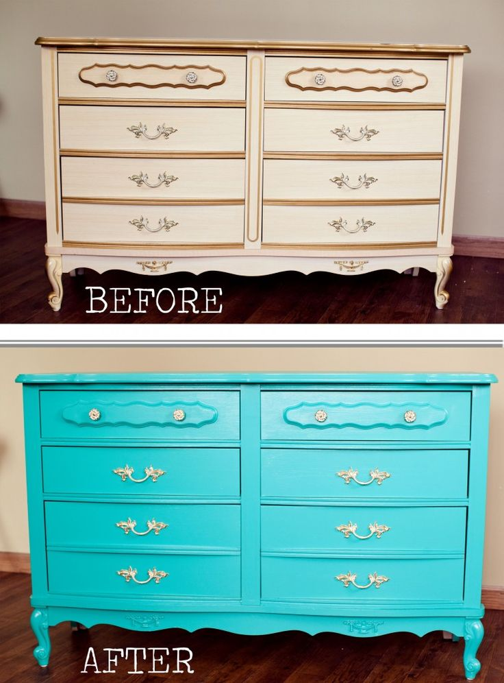 Before and After - painting furniture: