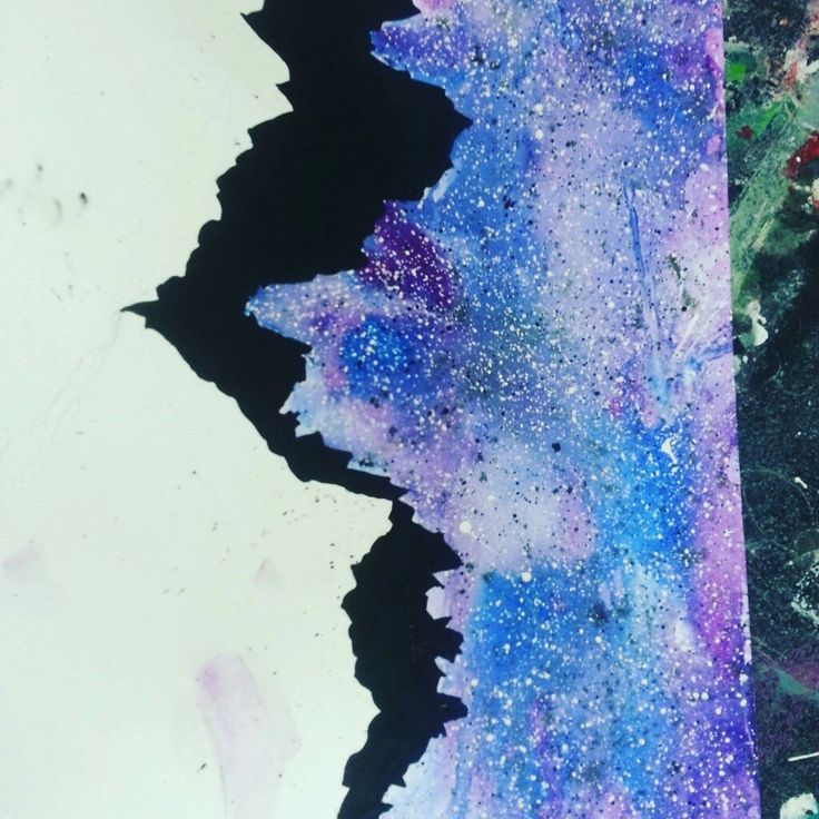 Gouashe galaxy painting