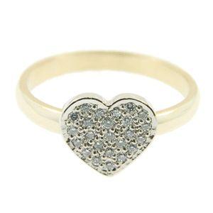 9ct Yellow & White Gold Pave Set Diamond Ring, NZD$995.00. Handmade at Cameron Jewellery by Peter Cameron & Sam Drummond