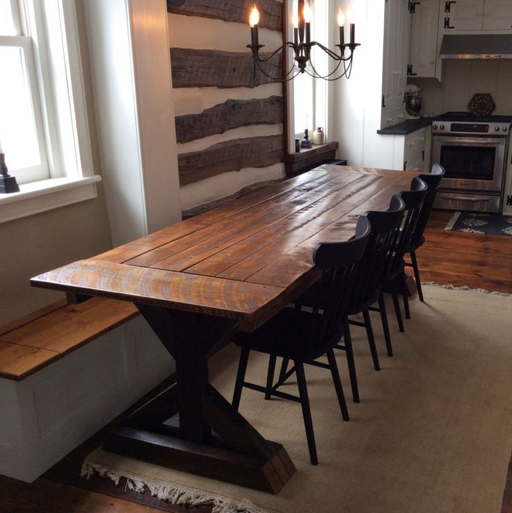 Trestle X Farmhouse Table With Reclaimed Wood By WoodenWhaleWorkshop On  Etsy Https://www