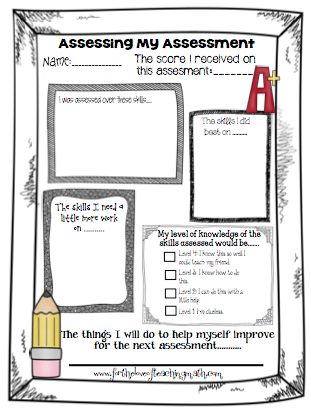 106 Best Student Self Evaluation Images On Pinterest | Classroom