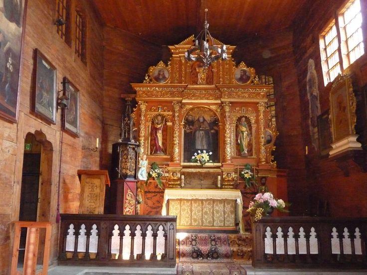 Sękowa, wnętrze kościoła p.w. św. Filipa i Jakuba