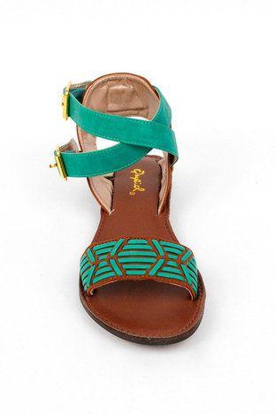 sea green sandals