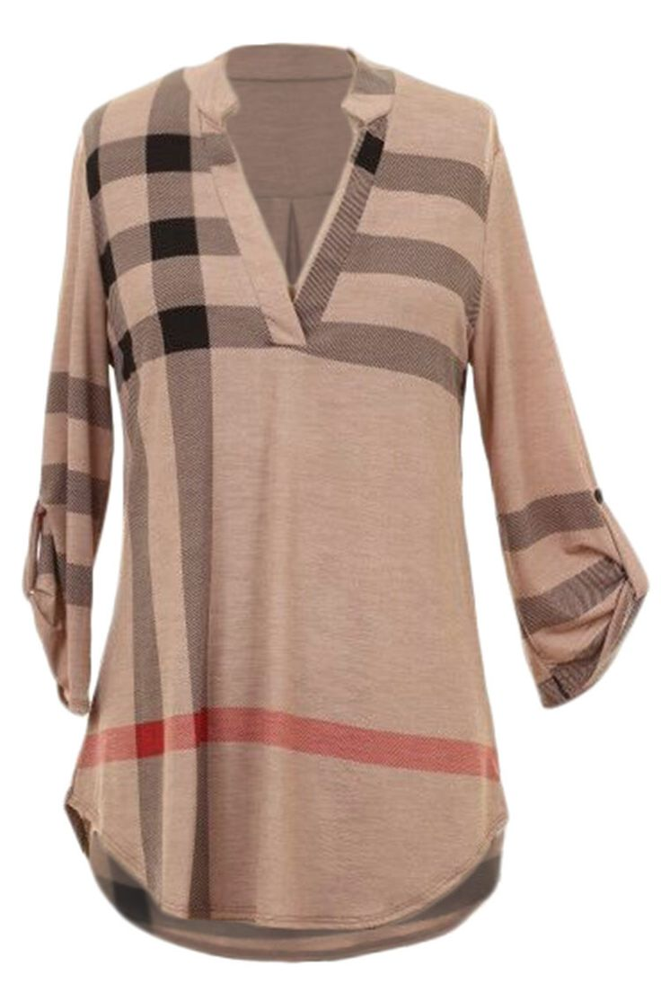 #AdoreWe #CupShe Top - CupShe V My Girl Classic Plaid Top - AdoreWe.com