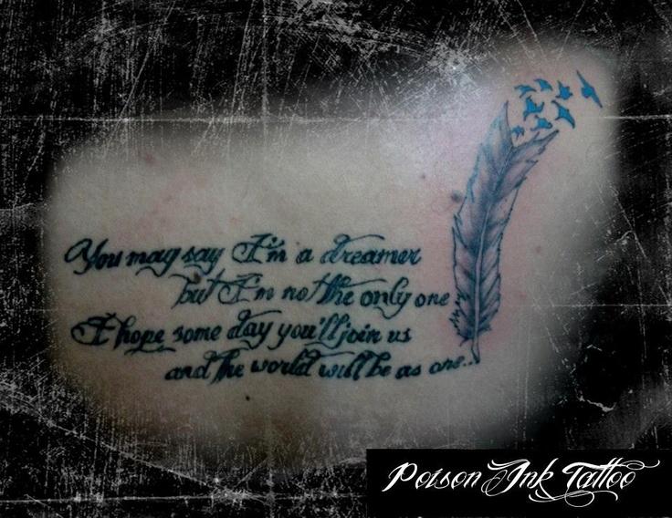 John Lennon's IMAGINE TATTOO | Tattoos | Pinterest | The o ...
