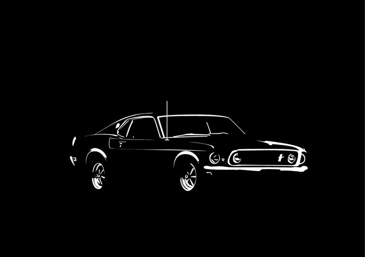 Ford Mustang in black