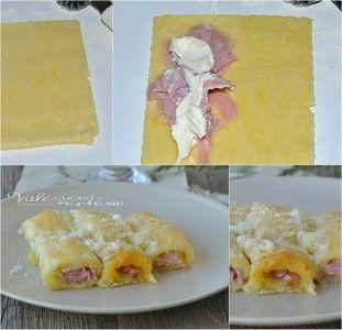 Cannelloni di patate con prosciutto e formaggio