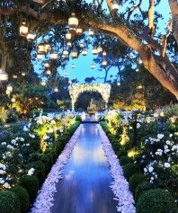 omg its absolutely perfect. this my perfect summer/field wedding aisle!!!