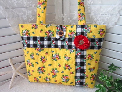quilted bag - Mary Engelbreit fabric