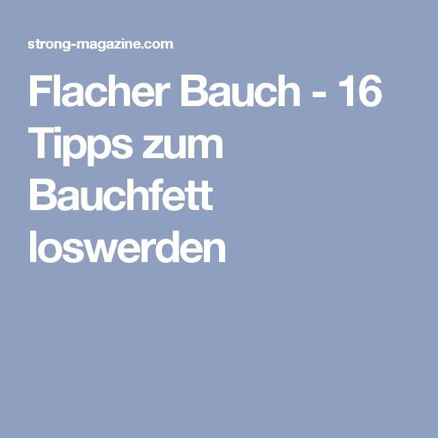Flacher Bauch - 16 Tipps zum Bauchfett loswerden